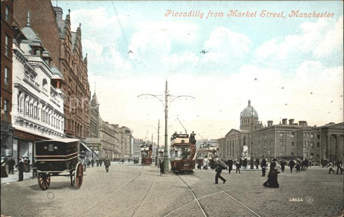 Manchester Piccadilly from Market Street Tram Kat. Manchester