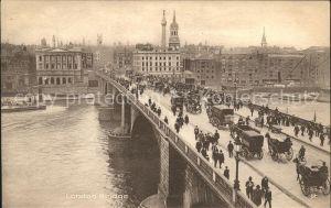 London London Bridge Thames Pferdekutsche Kat. City of London