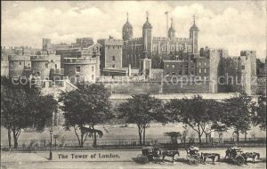 London Tower of London Pferdekutsche Kat. City of London