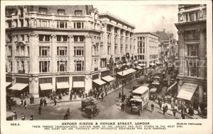 London Oxford Circus and Oxford Street Doppeldeckerbus Kat. City of London