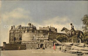 Edinburgh Castle and Haig Statue Monument Kat. Edinburgh