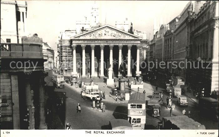 London Royal Exchange Monument Tuck s Post Card Kat. City of London