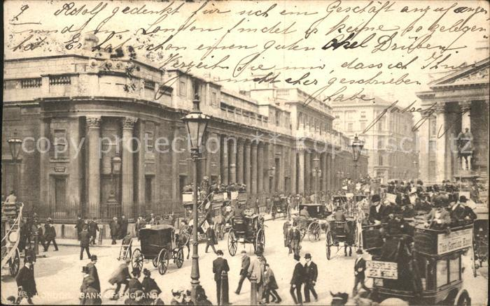 London Bank of England Tuck s Post Card Kat. City of London