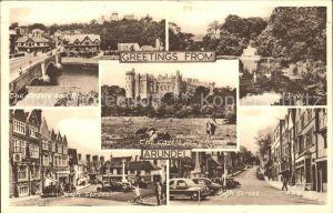 Arundel Castle Bridge Swan Pool High Street Kat. Arun