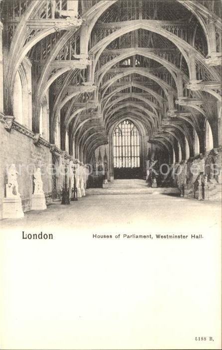 London Houses of Parliament Westminster Hall Kat. City of London