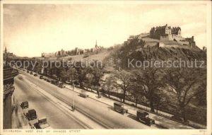 Edinburgh West End of Princes Street Castle Kat. Edinburgh