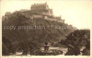 Edinburgh Castle and Ross Fountain Kat. Edinburgh