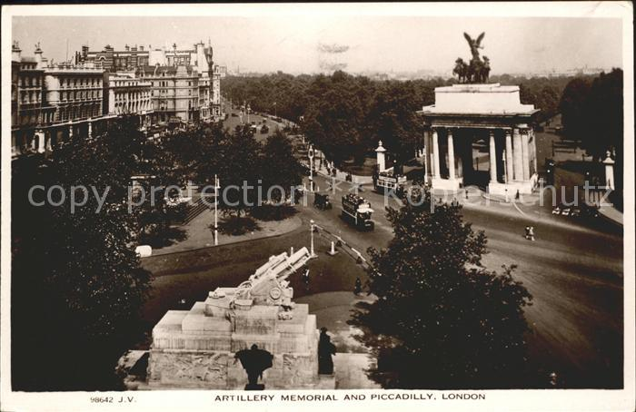 London Artillery Memorial and Piccadilly Kat. City of London