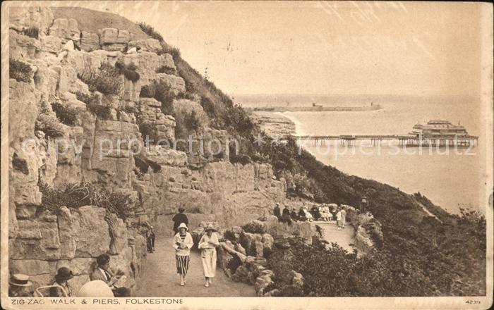 Folkestone Zig Zag Walk and Piers Kat. Shepway