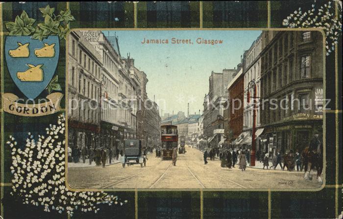 Glasgow Jamaica Street Tramway Gordon Wappen Kat. Glasgow City
