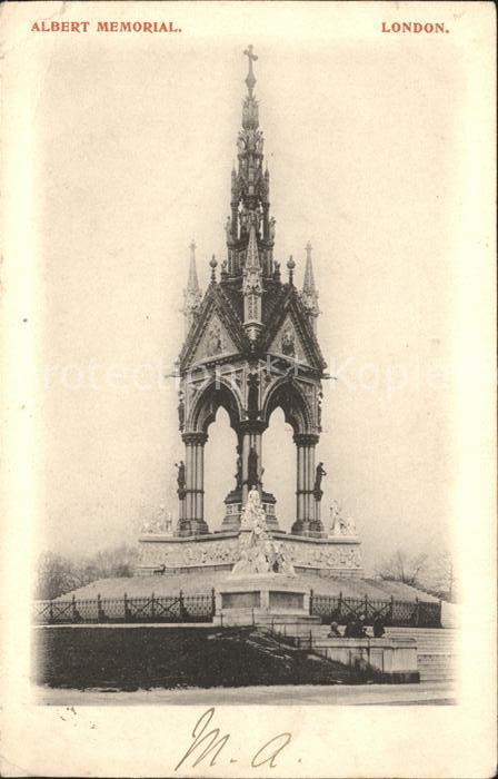 London Albert Memorial Kat. City of London