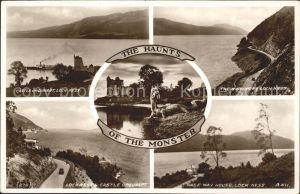Loch Ness Inverness Nairn Castle Urquhart Loch Ness Lake Haunts of the Monster Valentine's Post Card / Inverness & Nairn /Inverness & Nairn and Moray, Badenoch & Strathspey