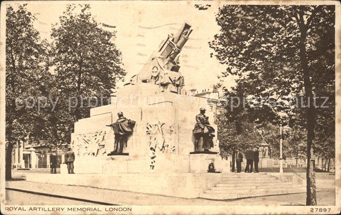 London Royal Artillery Memorial Kat. City of London