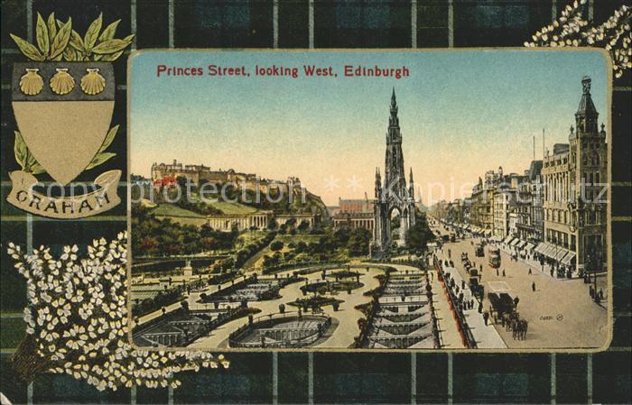 Edinburgh Princess Street looking West Valentine s Series Kat. Edinburgh