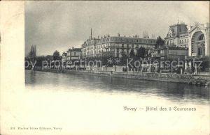 Vevey VD Hotel des a Couronnes Kat. Vevey