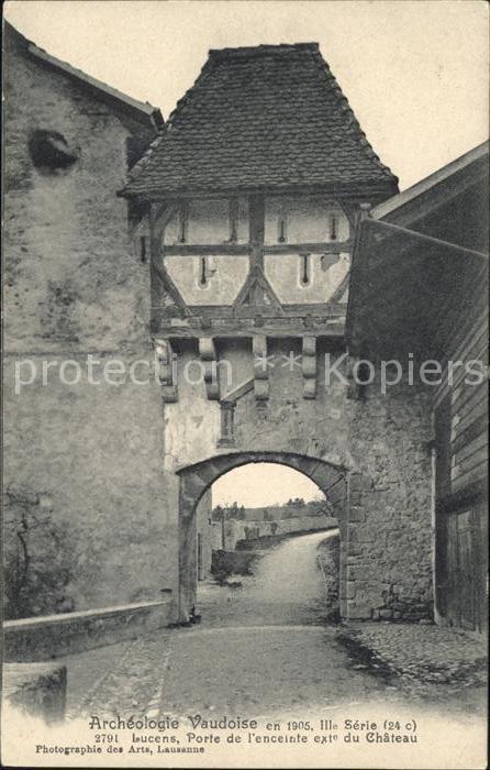 Lucens Porte de l enceinte exte du Chateau Kat. Lucens