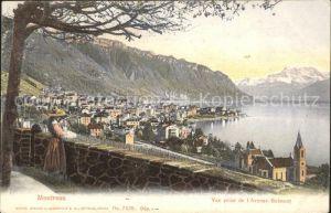 Montreux VD Vue prise de l'Avenue Belmont / Montreux /Bz. Vevey