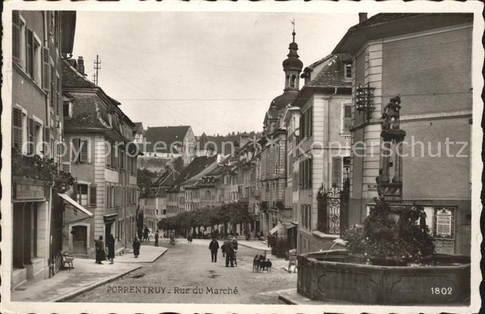 Porrentruy Rue du Marche Kat. Porrentruy