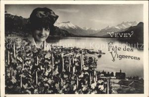 Vevey VD Panorama Fete des Vignerons Kat. Vevey