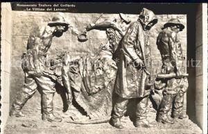 Bellinzona Monumento Traforo del Gottardo  Kat. Bellinzona