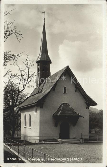 Rudolfstetten Kapelle St Joseph auf Friedlisberg Kat. Rudolfstetten