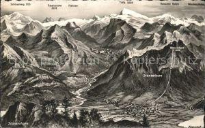 Stans Nidwalden Panoramakarte  Kat. Stans