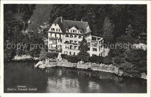 Gersau Vierwaldstaettersee Hotel u. Pension Seehof Fliegeraufnahme /  /