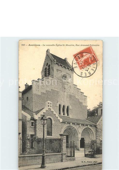 Asnieres Eure La nouvelle Eglise St-Maurice Rue Armand-Sylvestre / Asnieres /Arrond. de Bernay