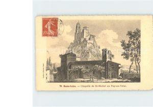 Le Puy en Velay Haute Loire Chapelle de St Michel Kat. Le Puy en Velay