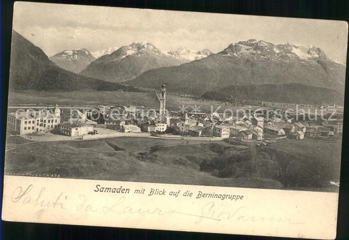 Samaden Blick auf die Berninagruppe Kat. Maloja