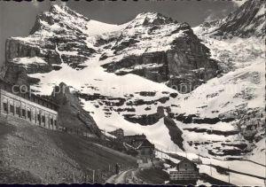 Jungfraubahn Station Eigergletscher mit eiger Kat. Jungfrau