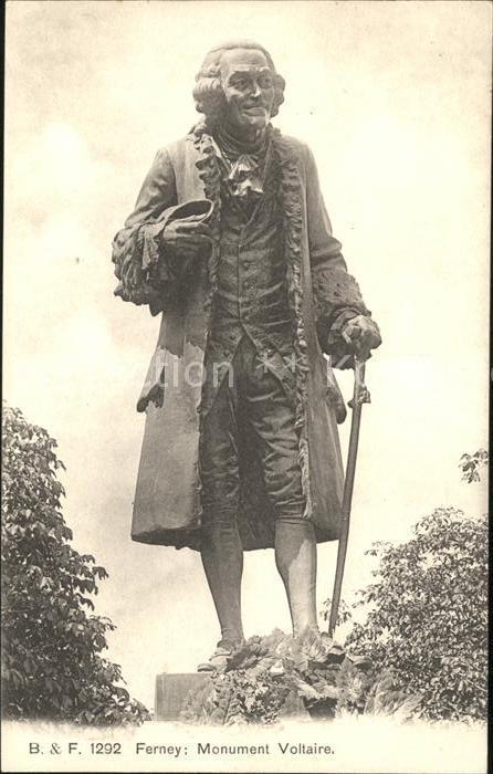 Ferney Voltaire Monument Voltaire Kat. Ferney Voltaire