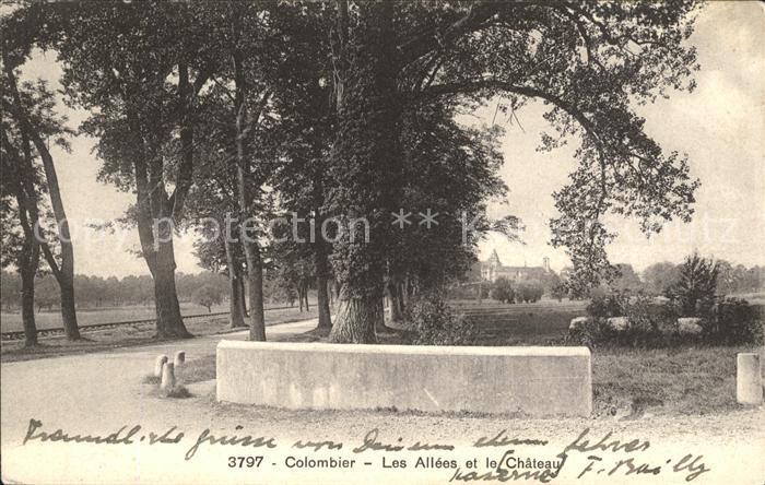 Colombier NE Les Allees et le Chateau / Colombier NE /Bz. Boudry