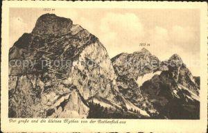 Schwyz Gr und Kl Mythen von der Rothenfluh aus Kat. Schwyz