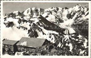 Languard Pitschen Languardhuette mit Berninagruppe Kat. Languard Pitschen
