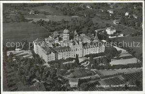 Schwyz Kollegium Maria Hilf Fliegeraufnahme Kat. Schwyz