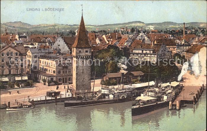 Lindau Bodensee Dampfer Boot Hafen Kat. Lindau (Bodensee)