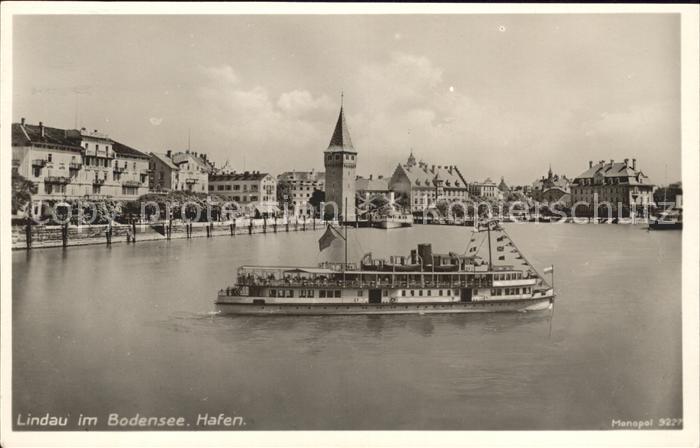 Lindau Bodensee Hafen Dampfer Kat. Lindau (Bodensee)