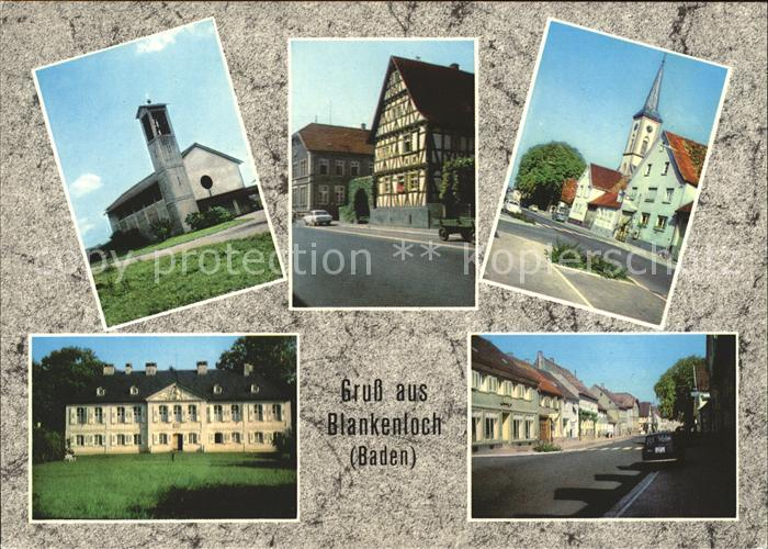 Blankenloch Kath. Kirche Fachwerkhaus Ev. Kirche Kat. Stutensee