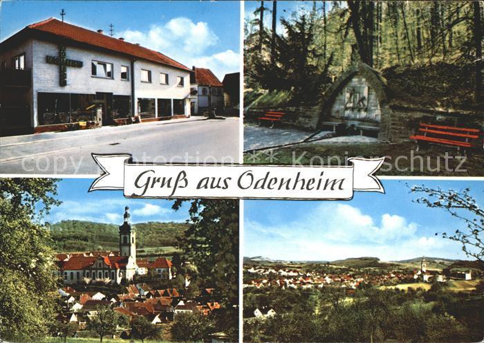 Odenheim Geschenkhaus Bolich Kirche Ortsansicht Kat. oestringen