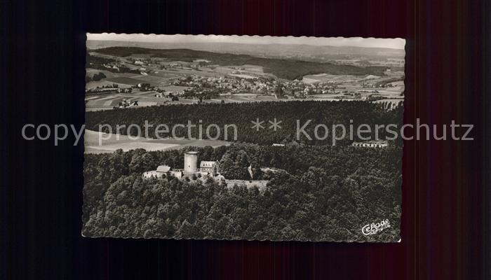 Borgholzhausen Fliegeraufnahme Burg Ravensburg Kat. Borgholzhausen