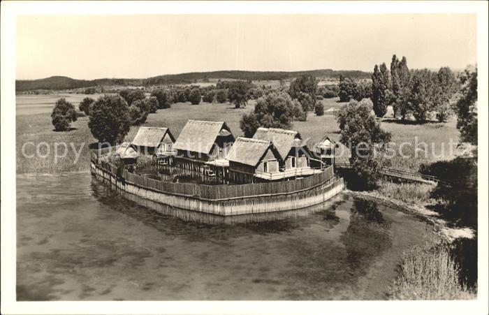 Unteruhldingen Freilichtmuseum Pfahldorf Steinzeit  Kat. Uhldingen Muehlhofen