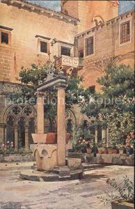 Dubrovnik Ragusa Dominikanski klaustar Kloster Kuenstlerkarte Kat. Dubrovnik