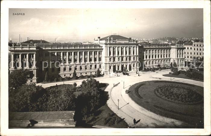 Zagreb Gebaeude Platz Kat. Zagreb