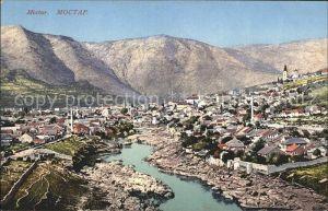 Mostar Moctap Gesamtansicht mit Bergpanorama Kat. Mostar