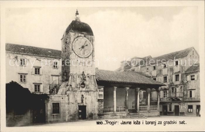 Trogir Trau Javna loza i toranj za gradski sat Uhrturm Kat. Trogir