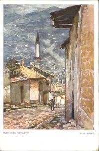 Sarajevo Mlini ulica Kuenstlerkarte M. D. Gjuric Kat. Sarajevo