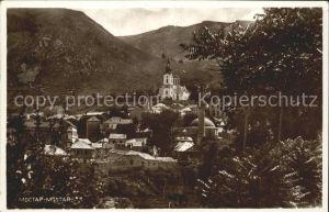 Mostar Moctap Stadtbild mit Kirche Kat. Mostar