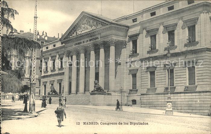 Madrid Spain Congreso de los Diputados Kat. Madrid