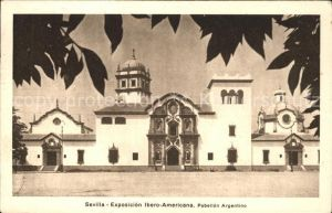 Sevilla Andalucia Exposicion Ibero Americana Pabellon Argentino Kat. Sevilla